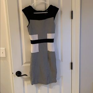 French connection gray and black dress